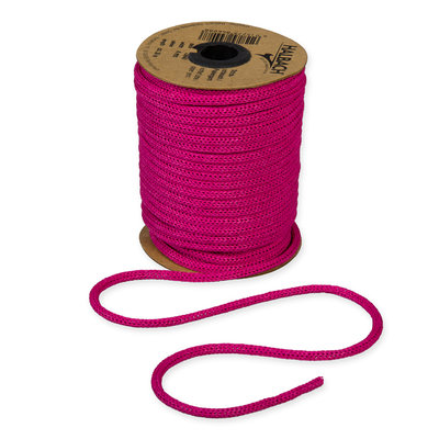 Knitted Paper Yarn Tubes, Hard Roze, per rol