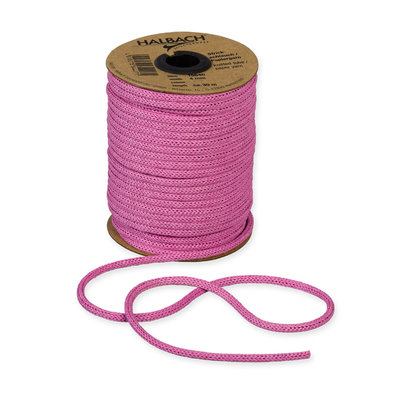 Knitted Paper Yarn Tubes, Roze, per rol