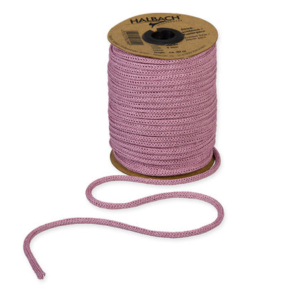 Knitted Paper Yarn Tubes, Oud Roze, per rol