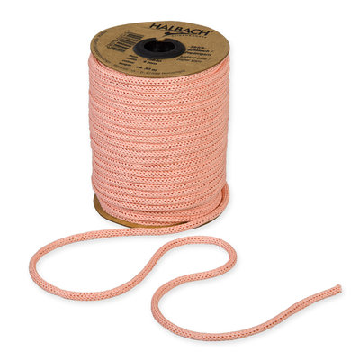 Knitted Paper Yarn Tubes, Abrikoos, per rol