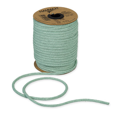 Knitted Paper Yarn Tubes, Donker Mint, per rol