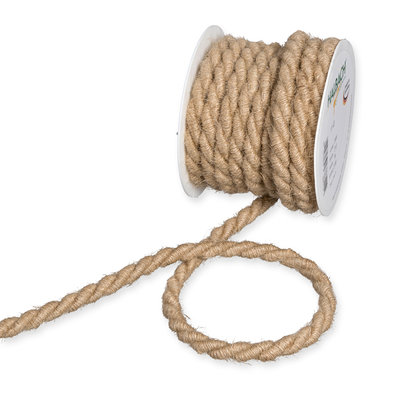 Jute koord Naturel, 10 mm x 5 meter op rol