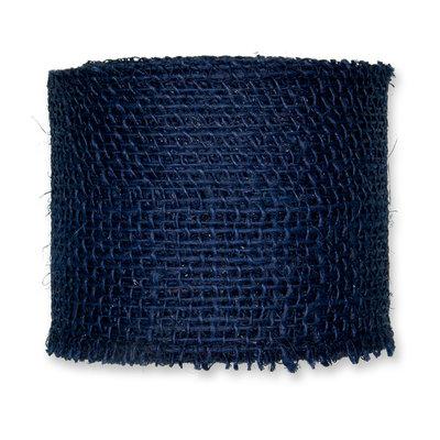 Jute band, Blauw, 8 cm x 10 meter op rol