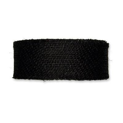 Jute band, Zwart, 5 cm x 20 meter op rol