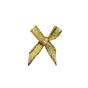 Strikjes mini goud 1,8 x 1,8 cm 10 stuks per zakje