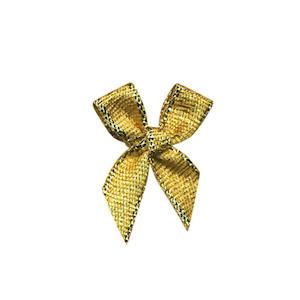 Strikjes middel goud 2 x 2 cm 10 stuks per zakje