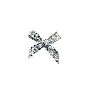 Strikjes mini zilver 1,8 x 1,8 cm 10 stuks per zakje