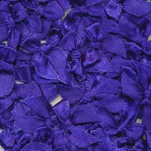 Strikje satijn kobalt blauw 20 x 25 cm 10 stuks per zakje