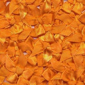 Strikje satijn donker oranje 20 x 25 cm 10 stuks per zakje