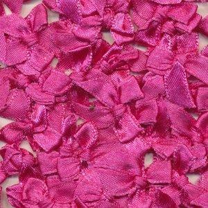 Strikje satijn fuchsia 20 x 25 cm 10 stuks per zakje
