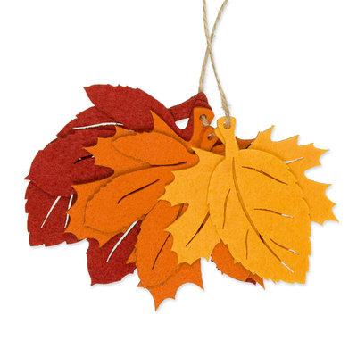 Vilt herfst bladeren, 6 stuks per verpakking