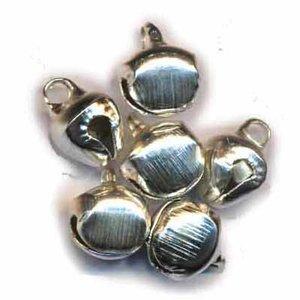Belletjes zilverkleurig 10 mm 20 stuks per zakje