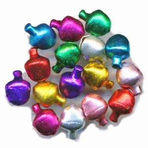 Belletjes gekleurd assorti 6 mm 20 stuks per zakje