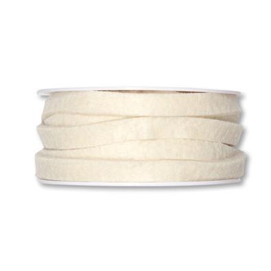 Vilt band 10 mm breed creme 5 meter op rol