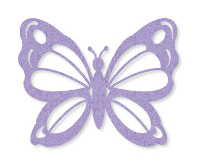 Vilt vlinder lila 4 stuks per zakje