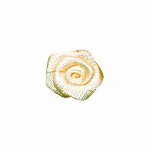 Satijnen roosje ivoor 20 mm 10 stuks per zakje