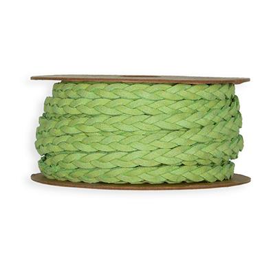 Leer Look Lint, 7 mm x 6 meter op rol, Groen