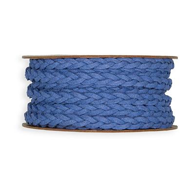 Leer Look Lint, 7 mm x 6 meter op rol, Blauw