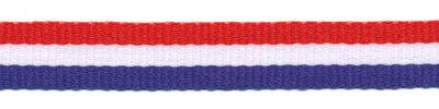 Rood wit blauw Nederlandse vlag lint 10 mm breed per meter