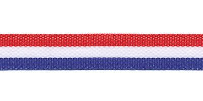Rood wit blauw Nederlandse vlag lint 15 mm breed per meter