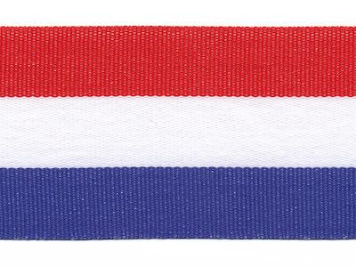 Rood wit blauw Nederlandse vlag lint 40 mm breed per meter