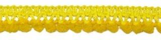 Mini pom pom band oker geel 10 mm breed per meter