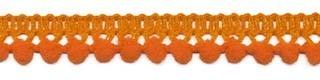 Mini pom pom band oranje per meter