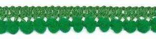 Mini pom pom band groen 10 mm breed per meter