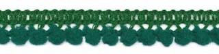 Mini pom pom flessen groen 10 mm breed per meter