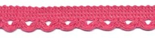 Lusjesband oud roze 12 mm breed per meter