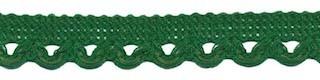 Lusjesband donker groen 12 mm breed per meter