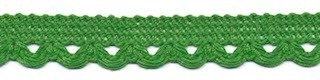 Lusjesband flessen groen 12 mm breed per meter