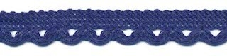 Lusjesband kobalt blauw 12 mm breed per meter