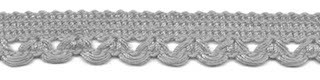Lusjesband licht grijs 12 mm breed per meter