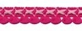 Lusjes band fuchsia roze 15 mm breed, per meter