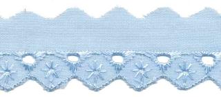 Broderie licht blauw 25 mm breed per meter