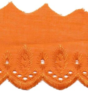 Broderie oranje 50 mm breed per meter