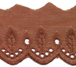 Broderie bruin 50 mm breed per meter