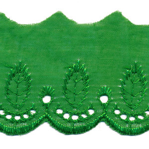Broderie groen 50 mm breed per meter