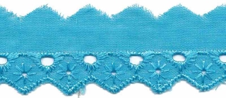 Broderie aqua 25 mm breed per meter
