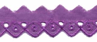 Broderie paars 25 mm breed per meter
