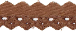 Broderie bruin 25 mm breed per meter