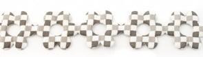 Bloemenband met geruit grijs 2,5 cm breed per meter