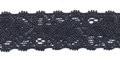 Gehaakt kant elastisch 22 mm breed donkerblauw per meter