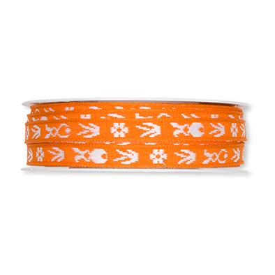 Paashaas lint oranje 1 cm breed 1 meter per zakje