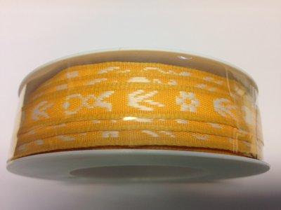 Paashaas lint geel 1 cm breed 1 meter per zakje