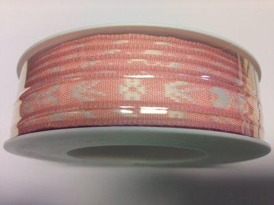 Paashaas lint roze 1 cm breed 1 meter per zakje