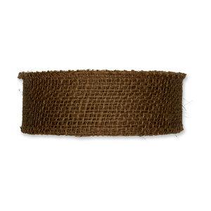 Jute band bruin 5 cm breed per meter