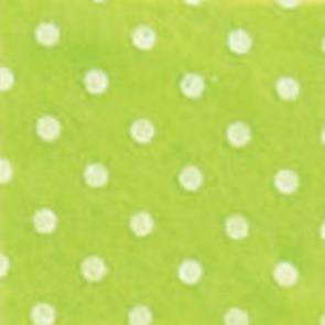 Vilt fel groen met witte stippen 1,5 mm dik 90 cm breed per meter
