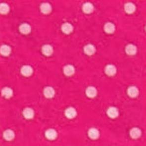 Vilt knal roze met witte stippen 1,5 mm dik 90 cm breed per meter